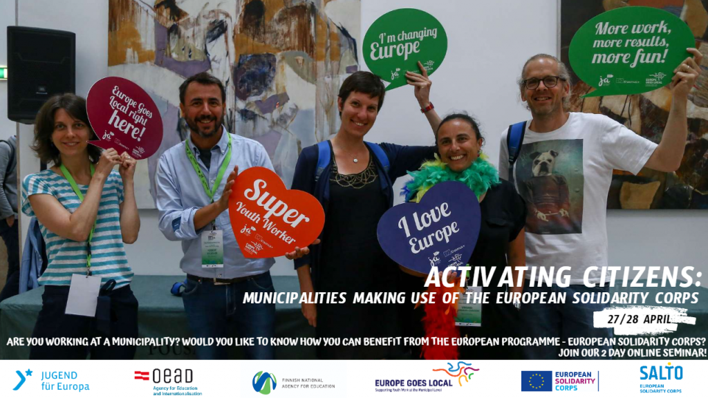 Activating citizens – municipalities making use of the European Solidarity Corps