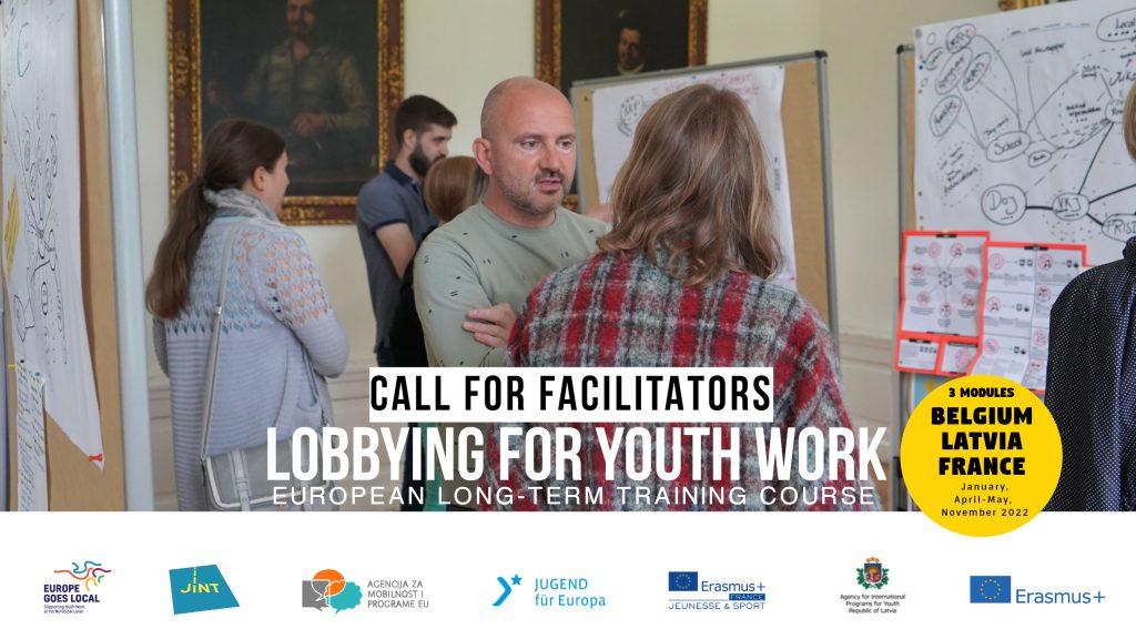 """Call for facilitator: European long-term training course """"Lobbying for youth work"""""""